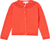 Lili Gaufrette Coral Cardigan with Jewelled Neckline