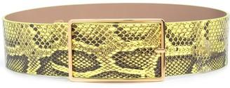 B-Low the Belt Snakeskin-Effect Belt