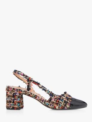 Dune Croft Fabric Heeled Court Slingback Shoes
