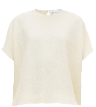 Raey Square Wool Crepe Top - Womens - Ivory