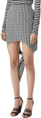 Burberry Back Knot Gingham Miniskirt