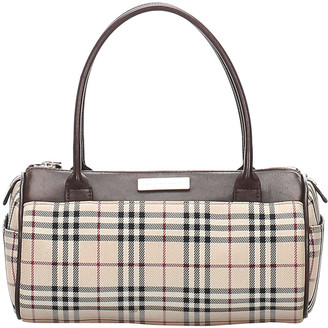 Burberry Brown House Check Canvas Satchel