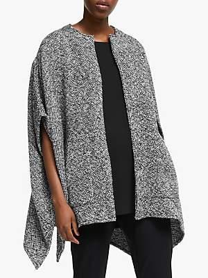 Eileen Fisher Poncho Jacket, Black/Multi
