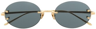 Linda Farrow Oval Frame Sunglasses