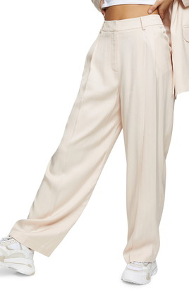 Topshop Stripe Jacquard Trousers