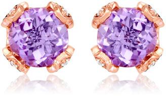LeVian Le Vian Strawberry Gold 3.81 Ct. Tw. Diamond & Pink Amethyst Earrings