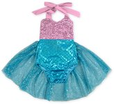D.LIN Baby Girls Mermaid Romper Dress Tulle/Sequin Summer Clothing