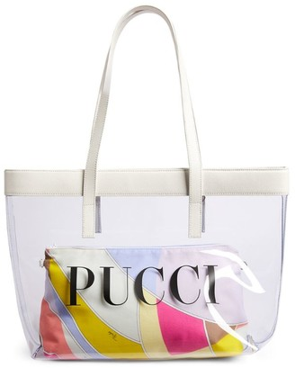 Emilio Pucci Junior Transparent Beach Bag
