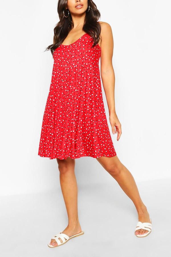 boohoo Ditsy Floral Swing Dress
