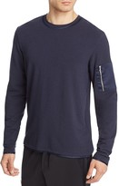 Ovadia & Sons Silk Trimmed Slim Fit Long Sleeve Tee