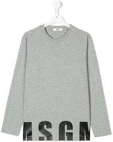 MSGM Teen logo print sweatshirt