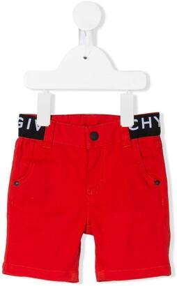 Givenchy Kids logo waistband shorts