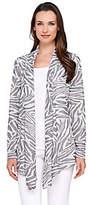 George Simonton Drape Front Sweater Knit Jacquard Cardigan