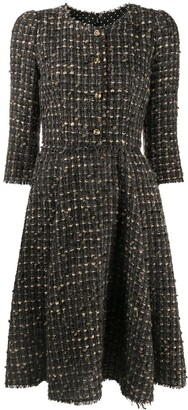 Dolce & Gabbana Flared Tweed Dress