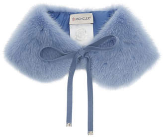 Moncler Blue Fur Collar