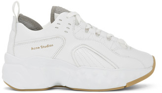 Acne Studios SSENSE Exclusive White Manhattan Sneakers