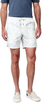Lands' End Men's Deck Shorts-Blue Print