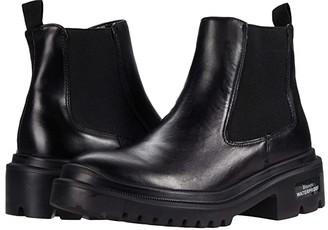 Blondo Cayla Waterproof Bootie (Black Leather) Women's Boots