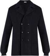 Tomas Maier Double-breasted wool-knit blazer