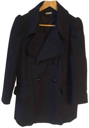 Miu Miu Black Wool Coats
