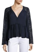 Elizabeth and James Lija Cotton-Blend Blouse