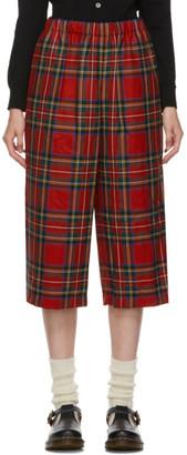 COMME DES GARÇONS GIRL Red Tartan Trousers