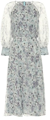 Erdem Yusra floral silk-voile midi dress