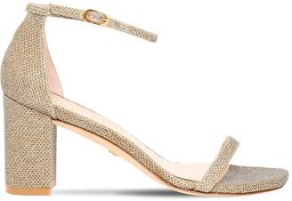 Stuart Weitzman 80mm Amelina Glittered Sandals