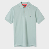 Paul Smith Men's Mint Green Cotton-Pique Flag-Motif Polo Shirt