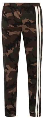 Valentino Camouflage-print Side-stripe Track Pants - Mens - Green