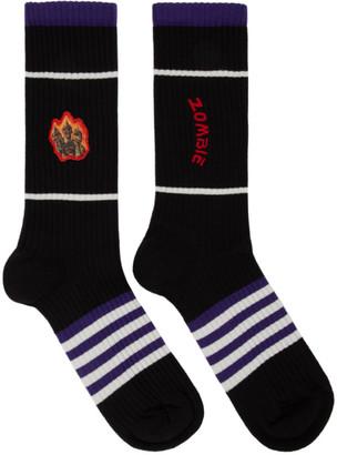 Acne Studios Black Monster in My Pocket Edition Socks