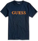 GUESS Men's Glitch Logo Cotton T-Shirt