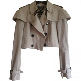 Burberry Beige Cotton Trench Coat for Women
