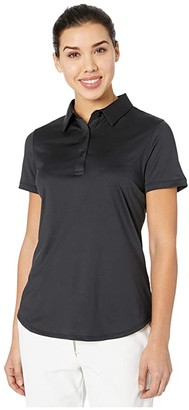Straight Down Leah Polo (Black) Women's Clothing