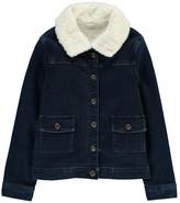 Little Karl Marc John Fur Collar Denim Jacket