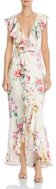 Keepsake Arrows Ruffled Floral Print Gown