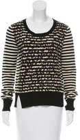 Thakoon Long Sleeve Wool Combo Sweater