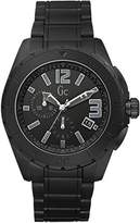 Gc Men's Sport Class XXl Black Out Quartz Watch with Black Dial Chronograph Display and Stainless Steel Bracelet X76011G2S