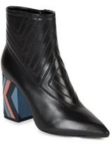 Lanvin Quilted Leather Booties