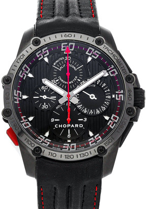 Chopard Black Stainless Steel DLC Classic Racing Superfast Chronograph Split Second Limited Edition 168542-3001 Men's Wristwatch 45 MM