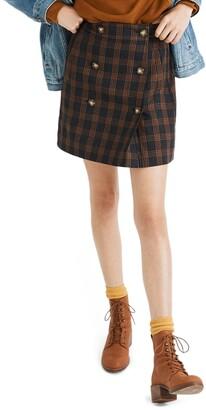 Madewell Plaid Double Breasted Miniskirt