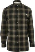 River Island MensDark green Jack & Jones Vintage check shirt