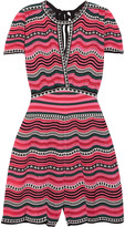 M Missoni Cotton-blend crochet-knit playsuit