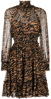 Zimmermann Silk Animal Print Dress