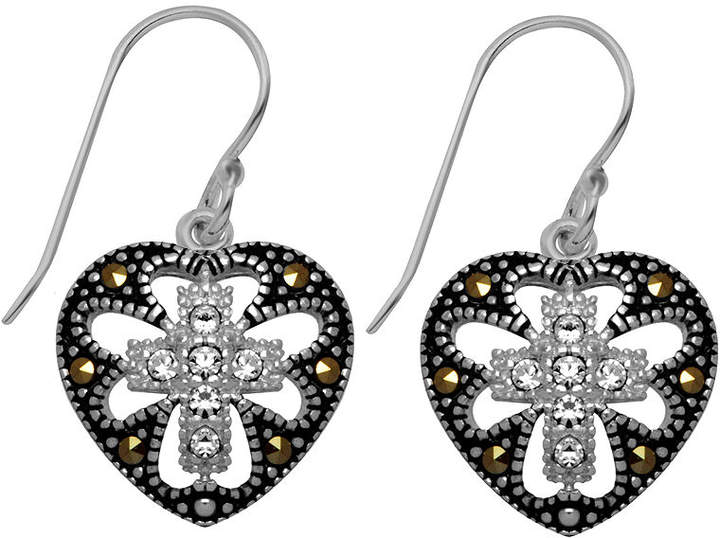 d771a7094 Crystal And Marcasite Earrings - ShopStyle