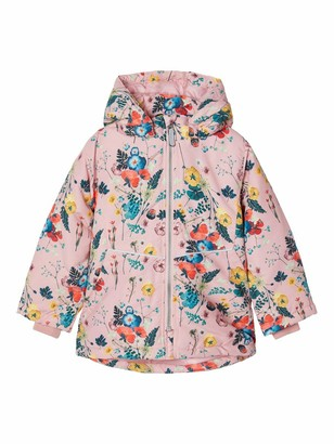 Name It Girls' NMFMAXI Jacket FLOWERFIELD Quilted