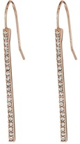 Lauren Ralph Lauren Rose Gold Social Pave Stick Earrings
