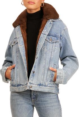 Gorski Denim Jacket w/ Mink Fur and Detachable Vest
