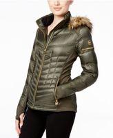 MICHAEL Michael Kors Faux-Fur-Trim Mixed-Media Puffer Coat