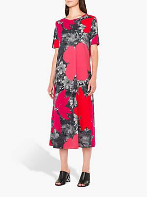 Paul Smith Rainforest Jersey Dress, Pink/Multi